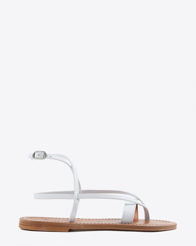 Sandales Kjacques Aubigne Blanc