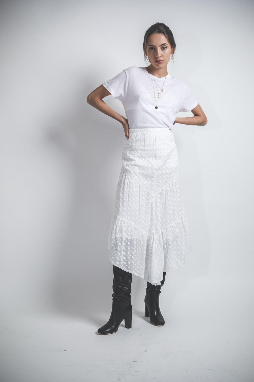 Tenue total white - jupe blanche et top blanc
