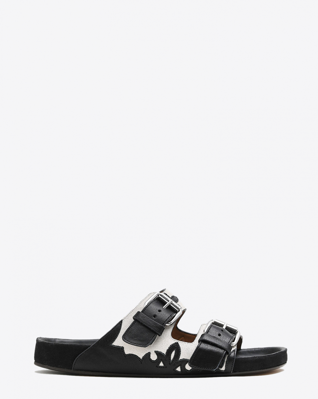 Sandales Isabel Marant Chaussures Lennyo Chalk/Black