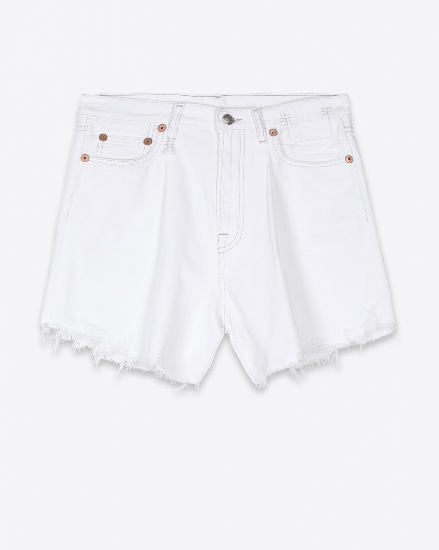 Shorts R13 Denim Collection Damon Pleated Short - Holden White