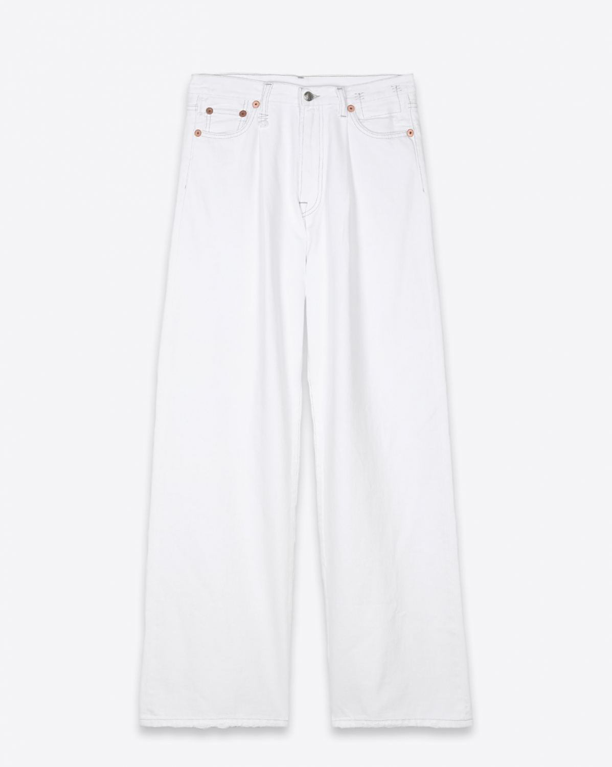 Jeans R13 Denim Collection Damon Pleated Wide Leg - Holden White
